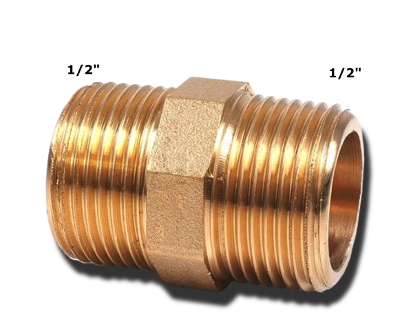 Do.-Nippel 1/2*1/2 MS(21mm)